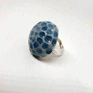 Anello Blu Arte di Blue fatto a mano Napoli