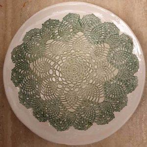 Il merletto verde Arte di Blue ceramiche napoli