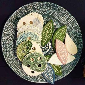 Piatto Trionfo di Blu - Ceramiche Arte di Blue Napoli