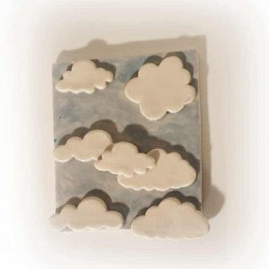 mattonella nuvolette fatto a mano arte di blue artigianato napoli