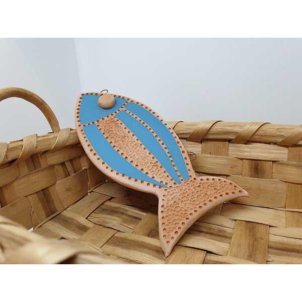 pesciolino in terracotta arte di blue